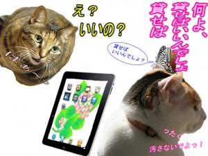 倉子ipadを貸す